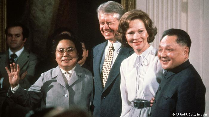 China USA Gipfeltreffen Jimmy Carter und Deng Xiaoping 1979 (AFP/AFP/Getty Images)