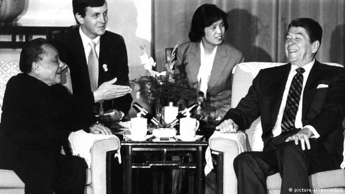 China USA Gipfeltreffen Ronald Reagan und Deng Xiaoping 1984 (picture-alliance/dpa)