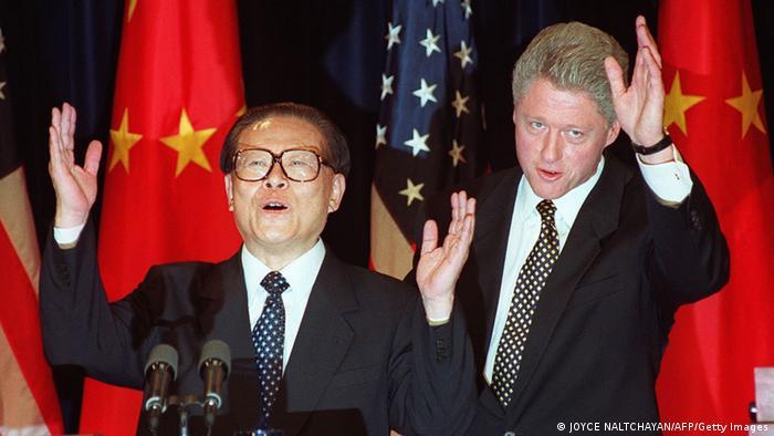 China USA Gipfeltreffen Bill Clinton und Jiang Zemin