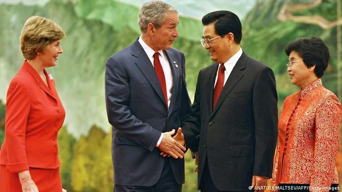 China USA Gipfeltreffen George W. Bush und Hu Jintao