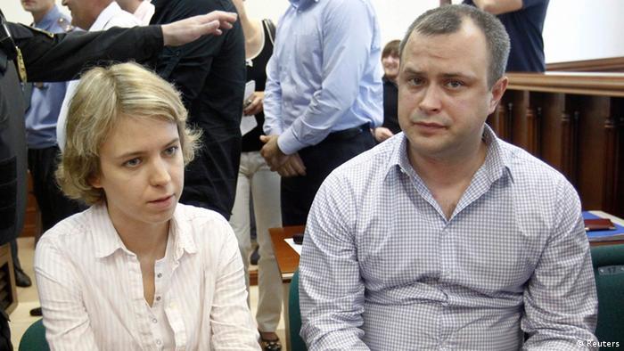Anna Politkowskaja Prozess Kinder Vera und Ilia im Gerichtssaal 03.06.2013 (Reuters)