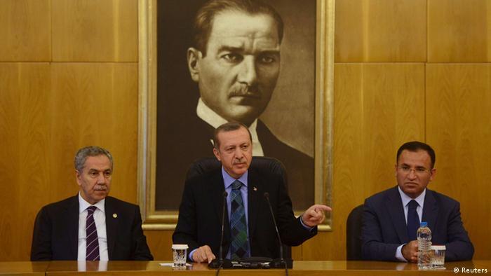 Прем'єр-міністр Туреччини Реджеп Таїп Ердоґан із заступниками