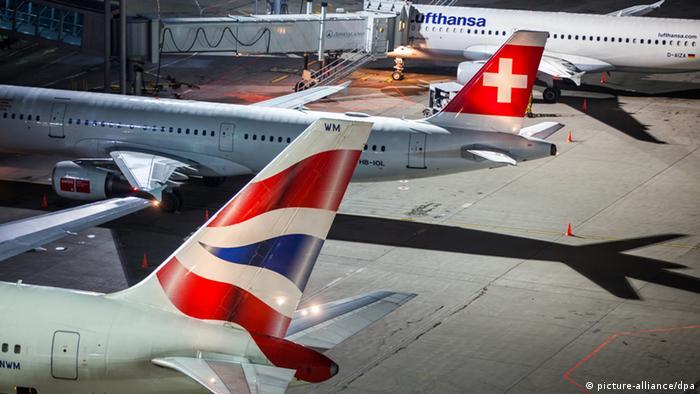 Самолеты европейских авиакомпаний в московском аэропорту Домодедово