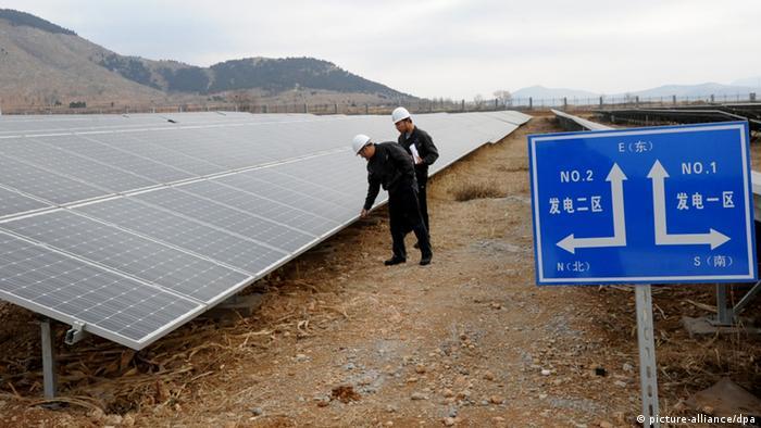 Symbolbild Solarnenergie China