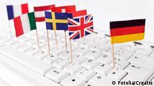 Europa Tastatur Fähnchen