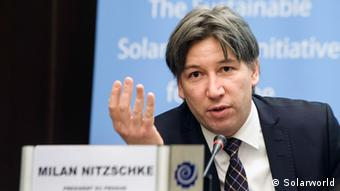 Milan Nitzschke, spokesman for Solarworld