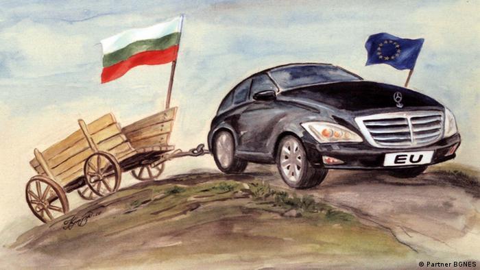 Zeichnung Bulgarien EU