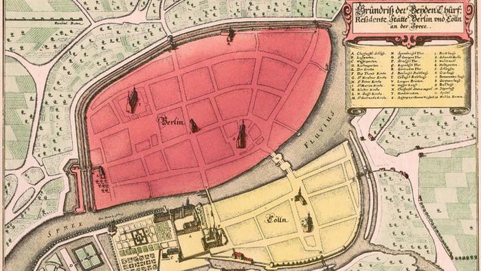 Карта Берлина, 1652 г.