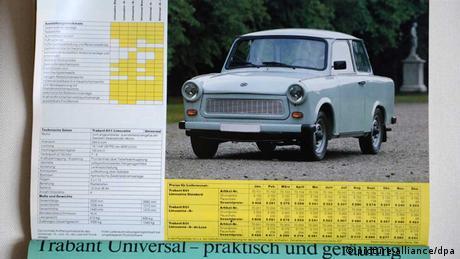 Ein Trabant 601 in einem Katalog der Palatinus GmbH