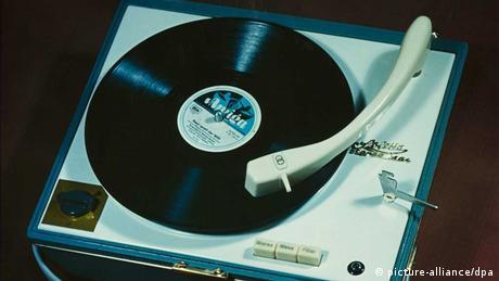 Soletta Plattenspieler mit Amiga-Schallplatte