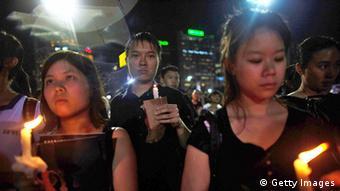 Hong Kong Gedenken an die Tienanmen Opfer 04.06.2013