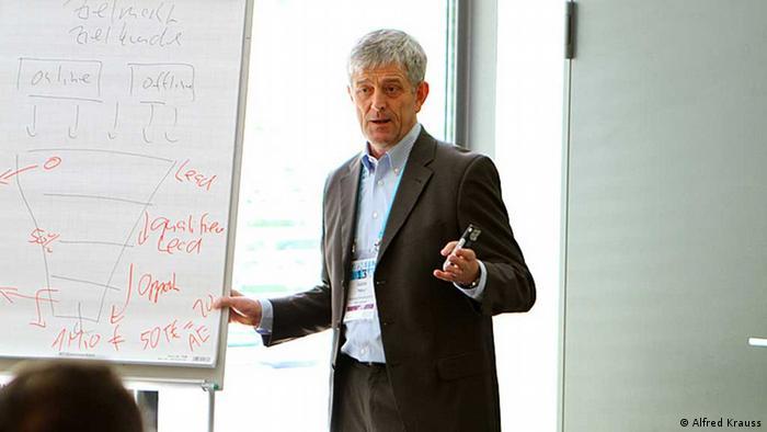 Бизнес-тренер Гюнтер Майер на семинаре