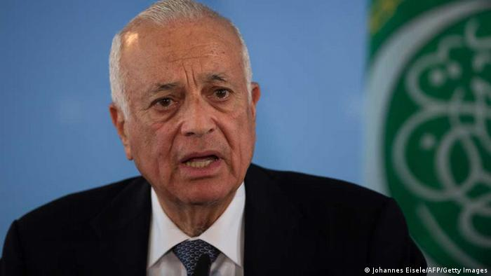 The Secretary General of the Arab League, Egyptian Nabil El-Araby attends a press conference with German foreign minister in Berlin on April 15, 2013 in Berlin. AFP PHOTO / JOHANNES EISELE (Photo credit should read JOHANNES EISELE/AFP/Getty Images)
