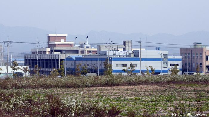An October 2012 file photo shows buildings in an inter-Korean industrial complex in the North Korean border city of Kaesong. (Kyodo)
