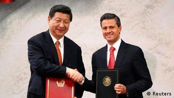Xi Jinping visita a Peña Nieto en México, en junio de 2013.
