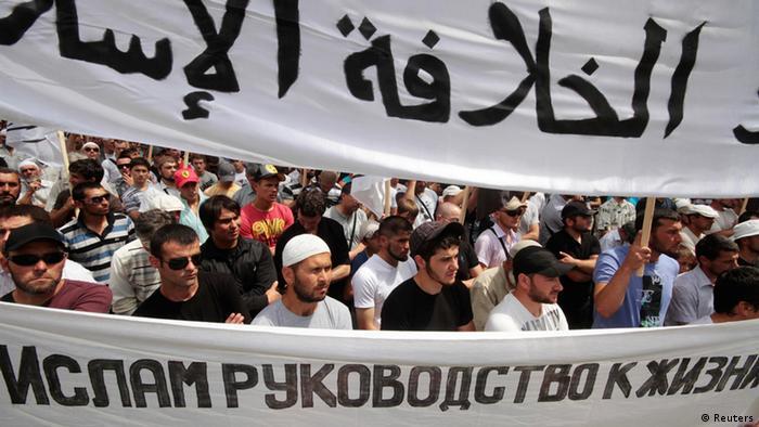 Ukraine Protest Islamisten Partei in Simferopol (Reuters)