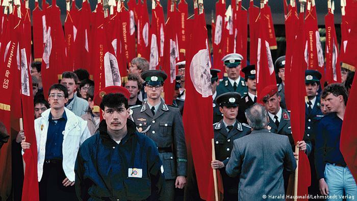 Официальное шествие гэдээровского комсомола (FDJ). Берлин, 1989 г.