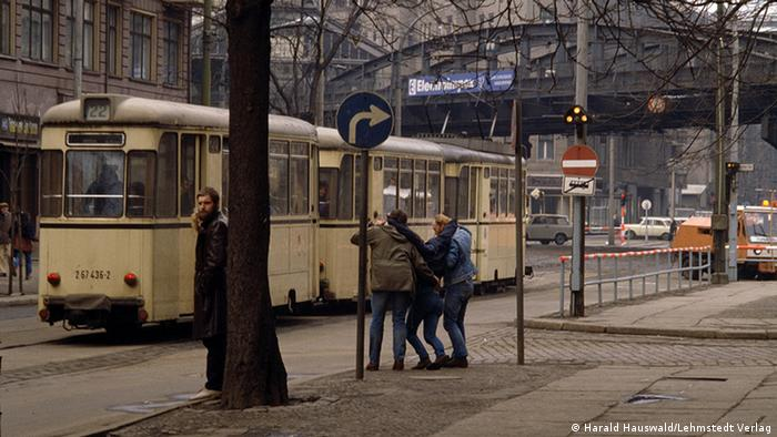 Public transport on Schönhauser Allee in the Berlin district of Prenzlaur Berg, photo by Harald Hauswald