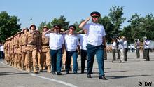 Die 201. Militärbasis Russlands in Tadschikistan Autor: Galim Faskhutdinov, DW-Korrespondent in Duschanbe, Tadschikistan, dh COPYRIGHT DW. Bild_5.JPG - Soldaten der russischen 201. Militärbasis in Tadschikistan, Duschanbe, während einer Parade, am 4. Juni 2013