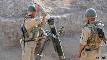 Die 201. Militärbasis Russlands in Tadschikistan Autor: Galim Faskhutdinov, DW-Korrespondent in Duschanbe, Tadschikistan, dh COPYRIGHT DW. Bild_4.JPG - Soldaten der russischen 201. Militärbasis in Tadschikistan, Duschanbe, während der Übung, am 4. Juni 2013