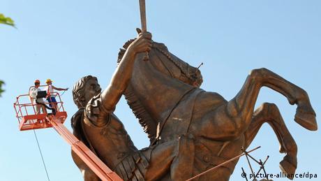 Mazedonien Skopje Statue von Alexander dem Großen (picture-alliance/dpa)