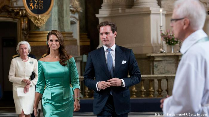 Princess Madeleine and Christopher O'Neill arrive to the service in the Royal Chapel in Stockholm, Sweden, May 19, 2013. (Photo: JONAS EKSTROMER/AFP/Getty Images)