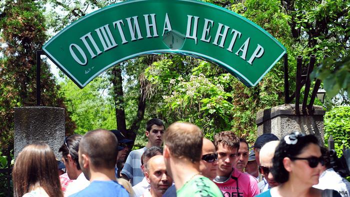 Mazedonien Proteste im Zentrum von Skopje Kirche