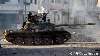 A tank operated by the Syrian army (c) AFP/Getty Images