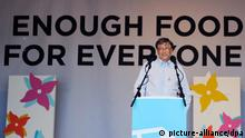 Hyde Park Versammlung zur Bekämpfung des Welthungers Bill Gates