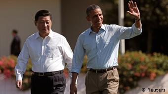 U.S. President Barack Obama and Chinese President Xi Jinping walk the grounds at The Annenberg Retreat at Sunnylands in Rancho Mirage, California June 8, 2013. (Photo: Reuters)