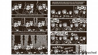 Zeina Abirached aime illustrer ses livres en noir et blanc Copyrigth: avant-verlag/Zeina Abirached. Zeina Abirached, auteur et illustratrice de BD Zugeliefert von: Guylaine Tappaz Der Avant-Verlag hat das Material im Rahmen der Besprechung Das Spiel der Schwalben des Comics honorarfrei zur Verfügung gestellt.