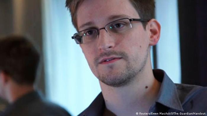 US National Security Agency whistleblower Edward Snowden