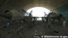 Syrien Kusair am 7 Juni 2013 Flughafen Dabaa Syrische Armee