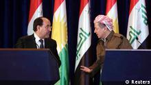 Irak Nuri al-Maliki und Masoud Barzani in Erbil 09.06.2013