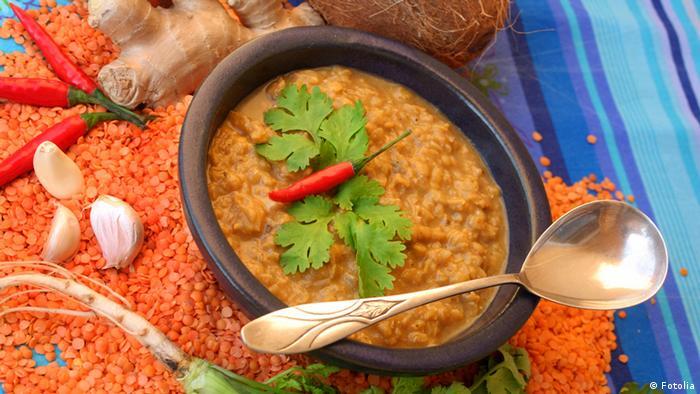 Linsen Curry Indische Küche (Fotolia)