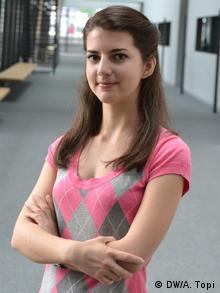 Migena Kodra, Biology student in Bonn Univesity, June 2013 Copyright: DW/Amarildo Topi