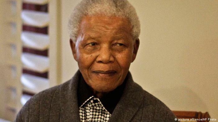 South African President Nelson Mandela (photo via AP)