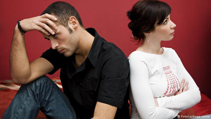 Symbolbild Mann Frau Beziehungskrise