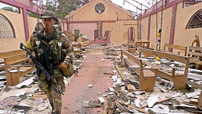 En esta iglesia del Chocó murieron unos 119 civiles, víctimas de la explosión de una pipeta de gas lanzada por las FARC el 2 de mayo de 2002.