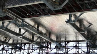 The protective cap that will cover the Chernobyl nuclear reactor