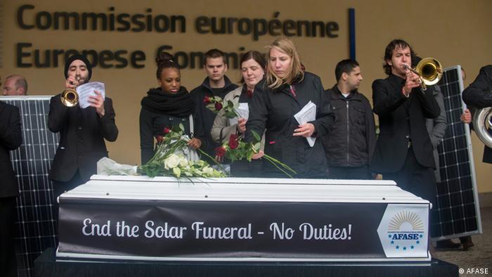 Protestaktion gegen Solarzölle