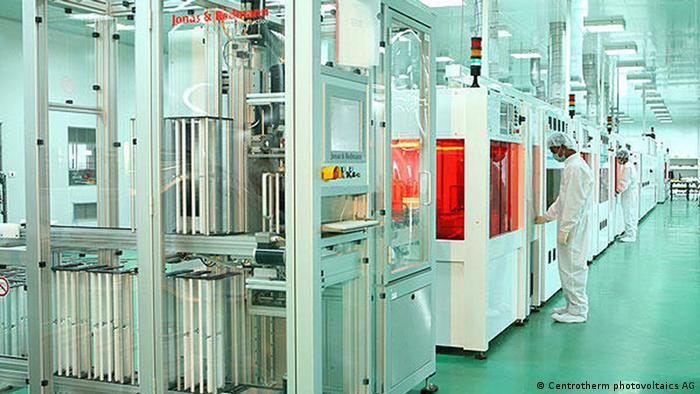 Produktionsstraße von Solarzellen Websol in Asien