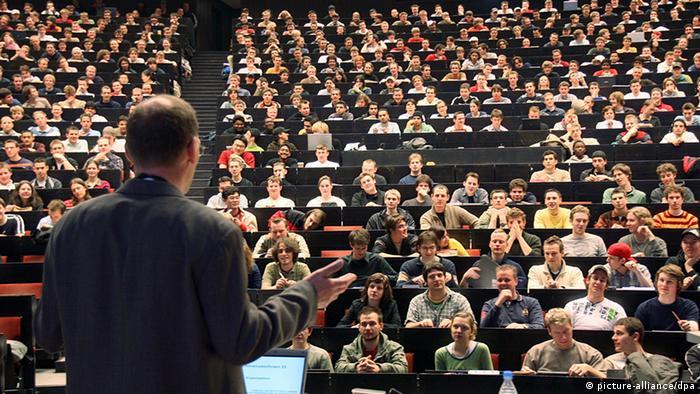 Aula na Universidade de Aachen, no oeste da Alemanha: país investe pesado em educação e pesquisa
