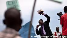 Photo taken on February 14, 2010 shows a religious leader making an address during a demonstration by Ugandans against homosexuality at Jinja, Kampala. A Ugandan pastor seeking to bolster Uganda's anti-gay laws which already make homosexuality punishable by life imprisonment screened gay porn in a packed Kampala church Wednesday February 17, 2010 in a bid to drum up support that was attended by around 300 supporters after plans for a 'million-man march' were thwarted by police. AFP PHOTO/TREVOR SNAPP (Photo credit should read Trevor Snapp/AFP/Getty Images)