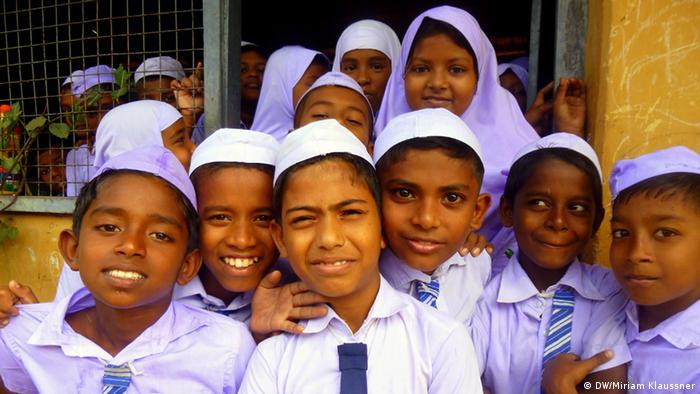 Sri Lankan school children (Photo: DW/Miriam Klaussner)