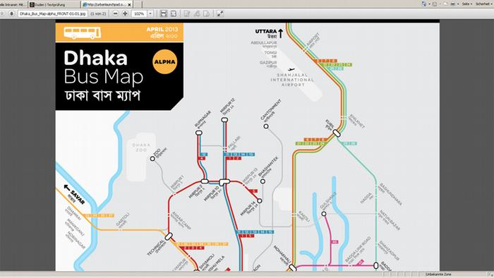 Screenshot Bangladesch Dhaka Bus Map