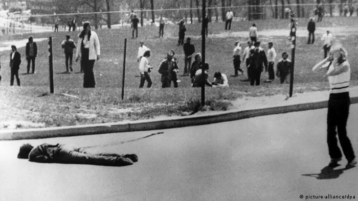 USA Demos Vietnamkrieg Student Uni Kent Archiv 1970
