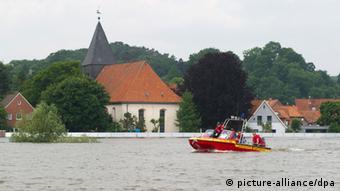 Hochwasser Deutschland Hitzacker 11. Juni 2013 (Foto: dpa)