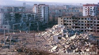 Ruševine u čečenskom glavnom gradu Groznom
