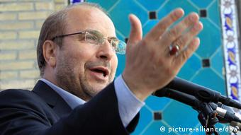 Iranian presidential candidate Mohammad-Bagher Ghalibaf, 27 May 2013.